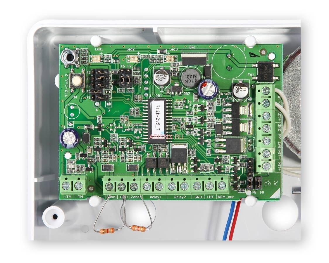 Купить прибор приемно-контрольный охранно-пожарный Астра-712/2 (ППКОП 01101349) - 5