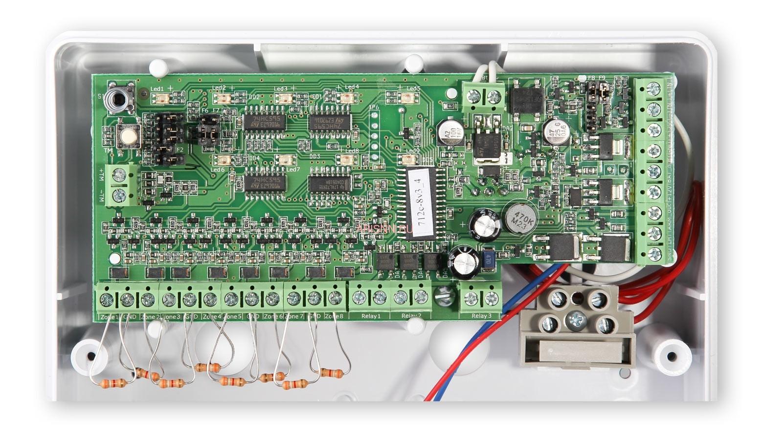Прибор приемно-контрольный охранно-пожарный Астра-712/8 (ППКОП 01101349) - 5