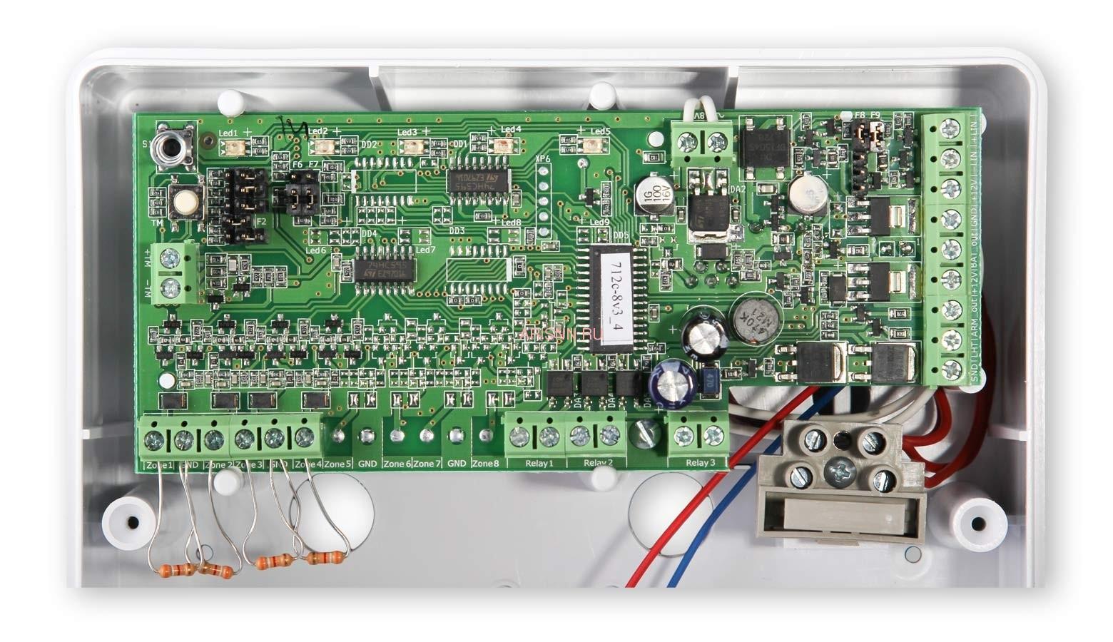 Прибор приемно-контрольный охранно-пожарный Астра-712/4 (ППКОП 01101349) - 5